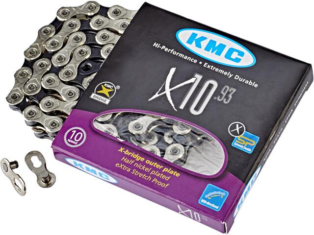 KMC X10 Chaîne de vélo 10-fach, silver/black